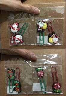 #MY1212 Christmas Theme Paper Clips x 8
