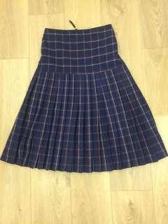 🚚 MOMA 毛呢毛料格紋造型裙