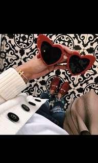 🚚 Pre-order Loulou Heart-shapes Acetate Sunglasses/Eyewear