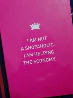 Shopaholic notebook
