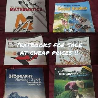 textbooks for sale !!