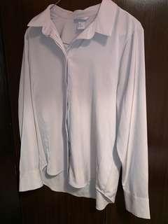 Beige sheer blouse- size 8-10.