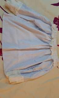 #MY1212 Lace Detail Striped Off Shoulder Top (READY STOCK)