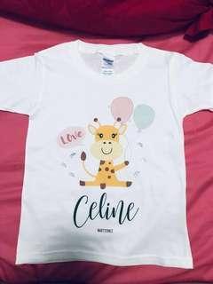Personalised tee for children/adults, customised tee, tshirt