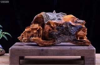 Yabai Village scene sculpture 40x20x25