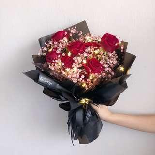 Flower Bouquet   Rose   Christmas Flower   Birthday Flower   Anniversary Gift   花束   鲜花