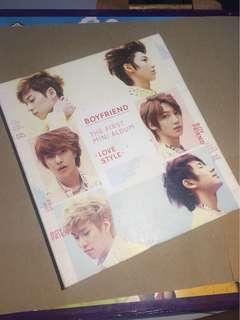 "Want To Sale Boyfriend Korean 1st mini Album ""Boyfriend Love Style"""