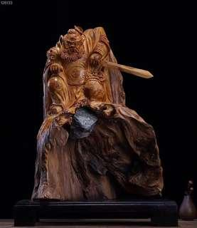 Yabai Zhongkui wood sculpture 46x34x52