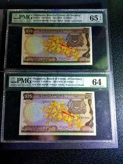 💥Orchid🌸 $25 🇸🇬 HSS yellow paper running number 2psc A/38