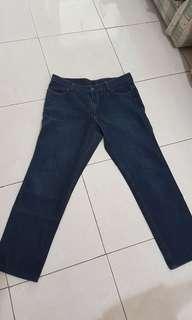 Celana panjang jeans jins biru cowo navy bisa cewe size bsar