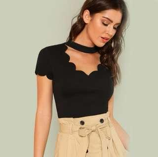 Scallop Trim Cut Top