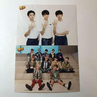 TFBoys Wanna One Yes! Card 第45期 禮品 5R相