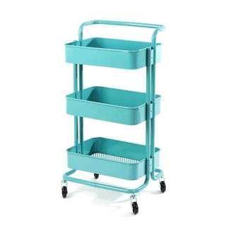 【Ready Stock】3 Tiers Stanless Steel Trolley like Ikea with Handle