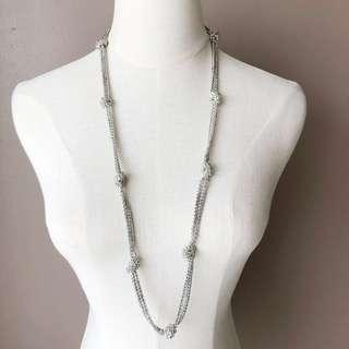 Ralph Lauren Tied Chain Long Necklace