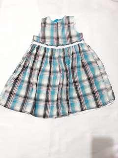 Checked Blue Dress