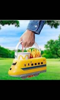 日本麥當勞限定版新幹線火車頭(食物籃)