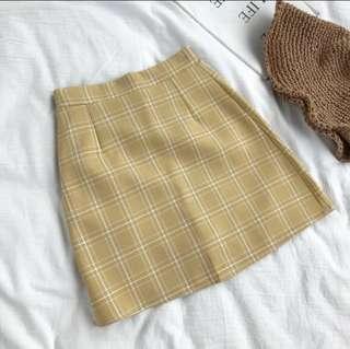 Ulzzang Grid Skirt [PO]