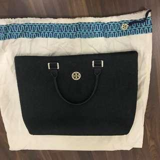 Tory Burch. Black. Tote bag. Preloved. Authentic.