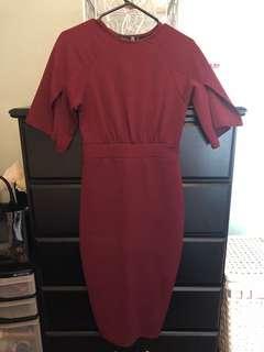 Maroon Dress Size 6
