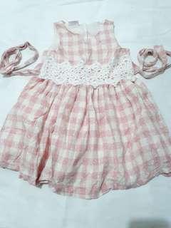 Checkered Pink Dress
