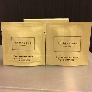全新英國jo Malone body & hand lotion 7ml x 2 pack