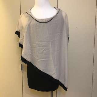 🚚 9成新 氣質洋裝 優雅上衣 飄逸雪紡配緊身黑色洋裝