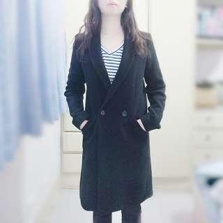 Zara毛呢西裝外套