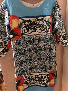 Mocrocan quarter sleeves Shift Dress