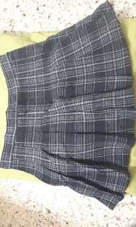 #MY1212 Black Wool Pleated Skirt (READY STOCK)
