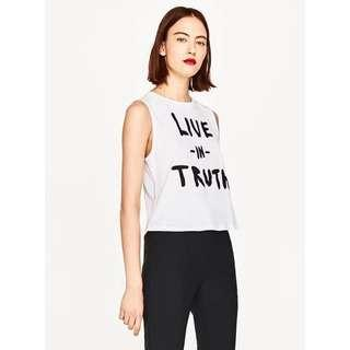 """""""Live In Truth"""" Sleeveless Top"""