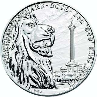 2018 英國地標系列 - 特拉法加廣場 .999銀幣 1oz