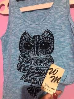 New owl tanktop with tag