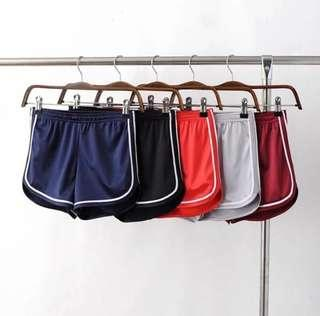 🚚 歐美緞面運動短褲