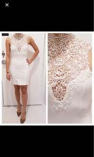 NWOT lace white dress
