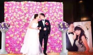 超強 婚禮花牆婚禮佈置結婚背板 出租/訂製