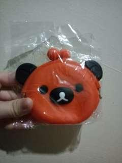 (GOOD DEAL ❗) ORANGE RILAKUMA COIN POUCH