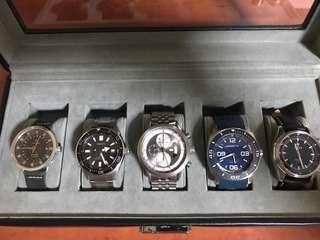 Seiko Prospex SBDC051, Magrette MPP Kara, Raymond Weil Freelancer Ti Chronograph, Aevig Balaur