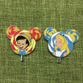 Alice, 木偶-disney pin廸士尼襟章