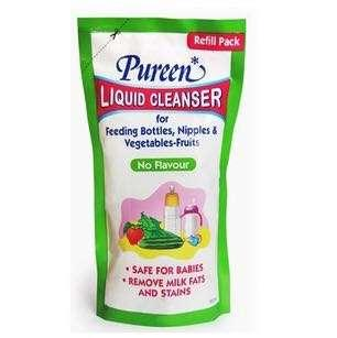 BN Pureen Liquid Cleanser for Feeding Bottles, Nipples & Vegetables 600ml Refill Pack (No Flavour)