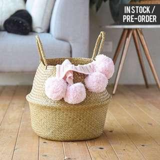[Instock / PO] Nordic Style Plain Woven Basket