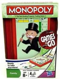 [Genuine] Monopoly - Games to GO