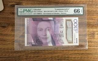 100£ with vary Low c number 918 don't miss this note UnC