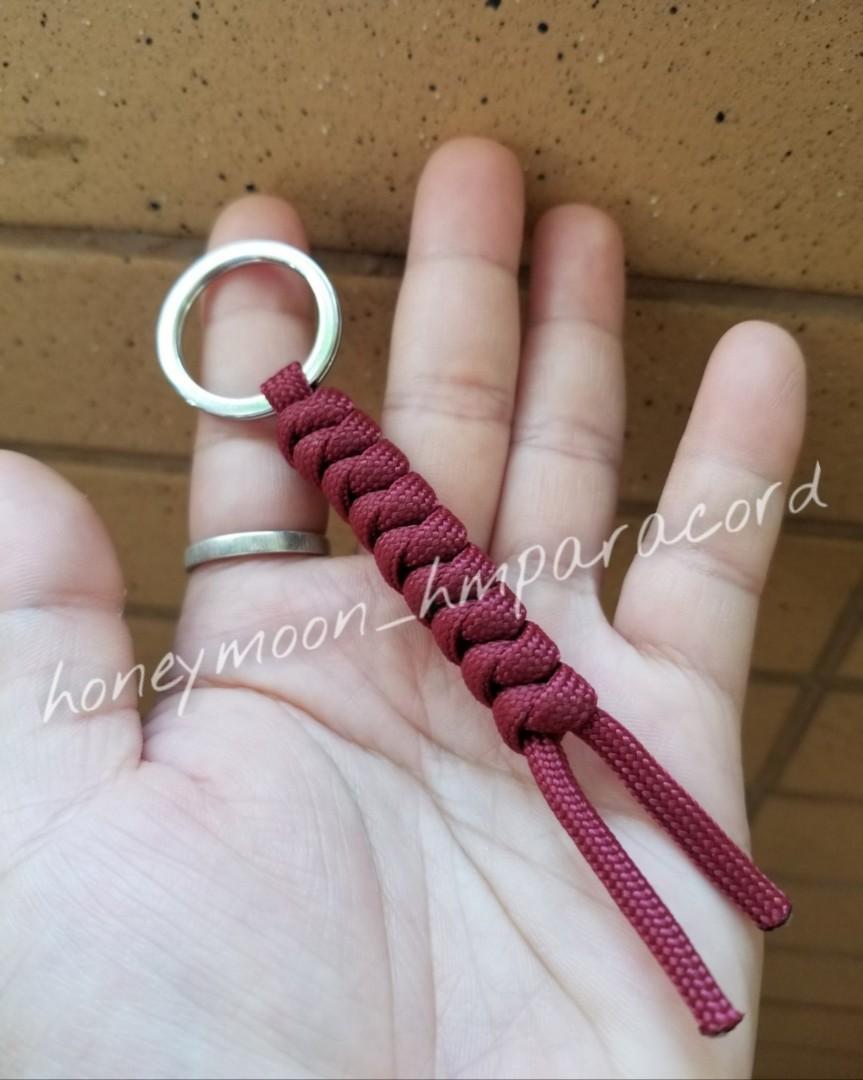 全人手製作 傘繩鎖匙扣 /背包掛飾 (蛇結)