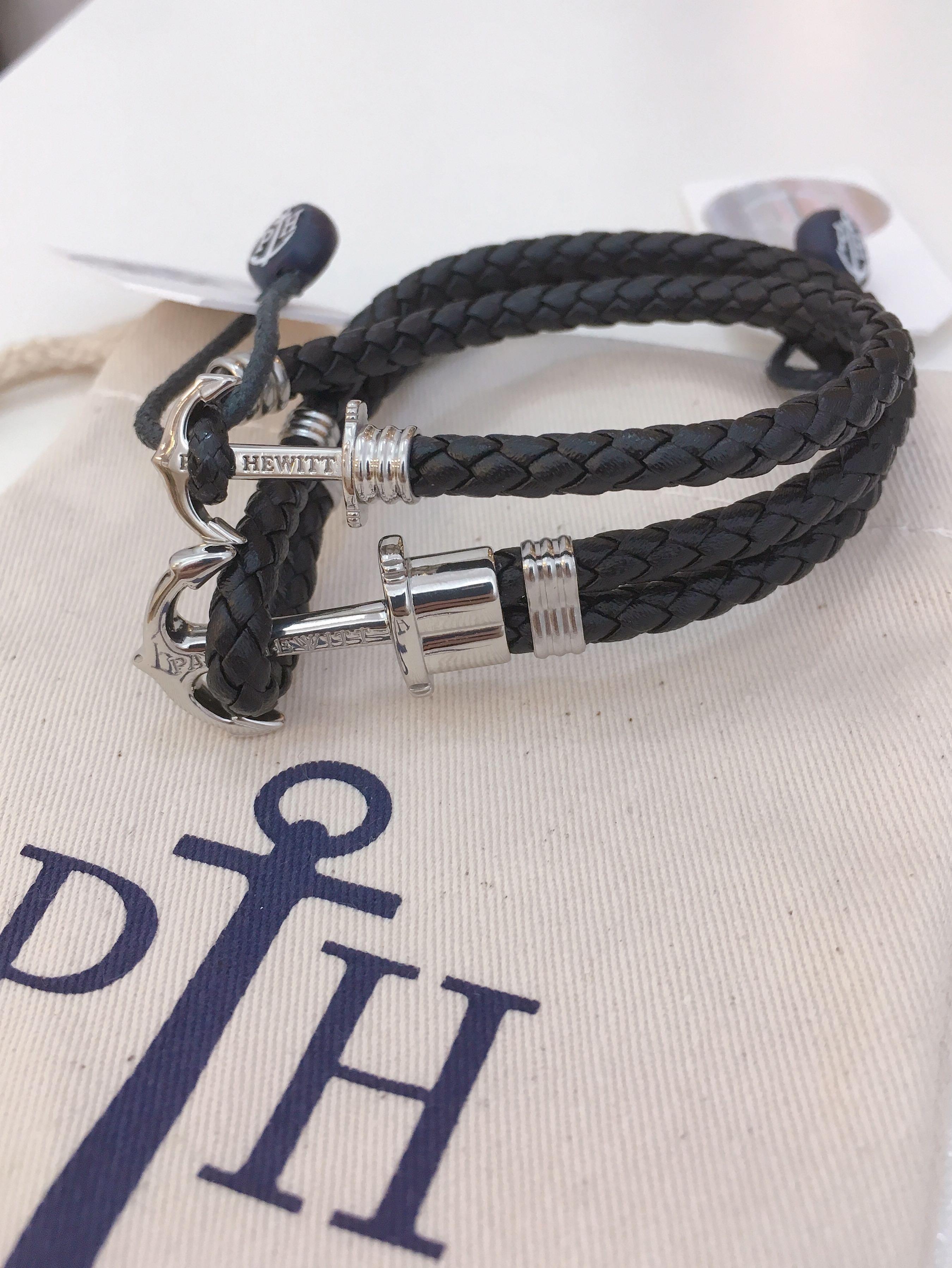 行貨 paul hewitt lite steel black leather bracelet 手繩 情侶手繩 手帶 手環 手縺
