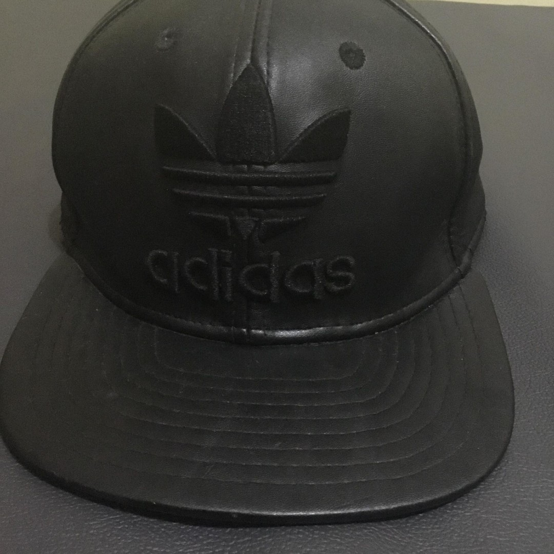 e7997f93d7a Adidas Leather Cap (Black)