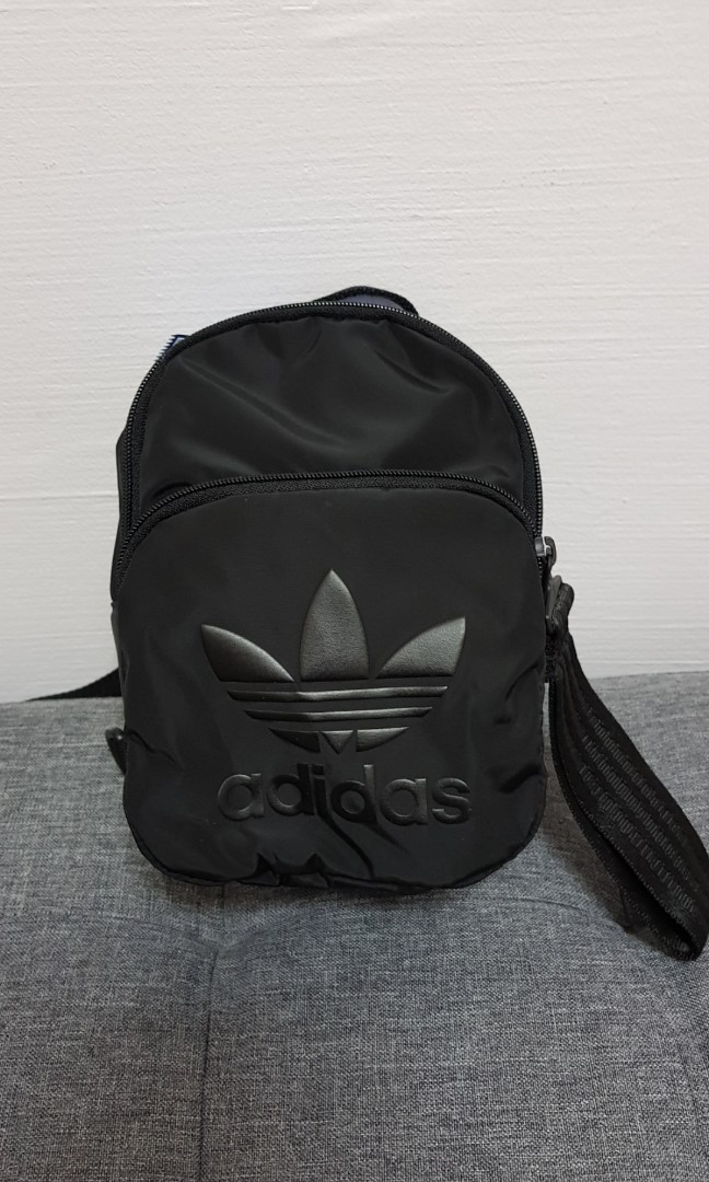 4b3f943bd1ba Adidas originals all black mini backpack sling bag