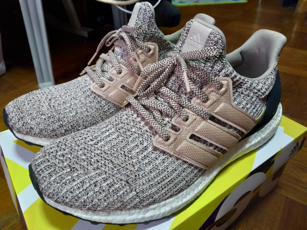 Adidas Ultra Boost 4 0 Ash Pearl Men S Fashion Footwear