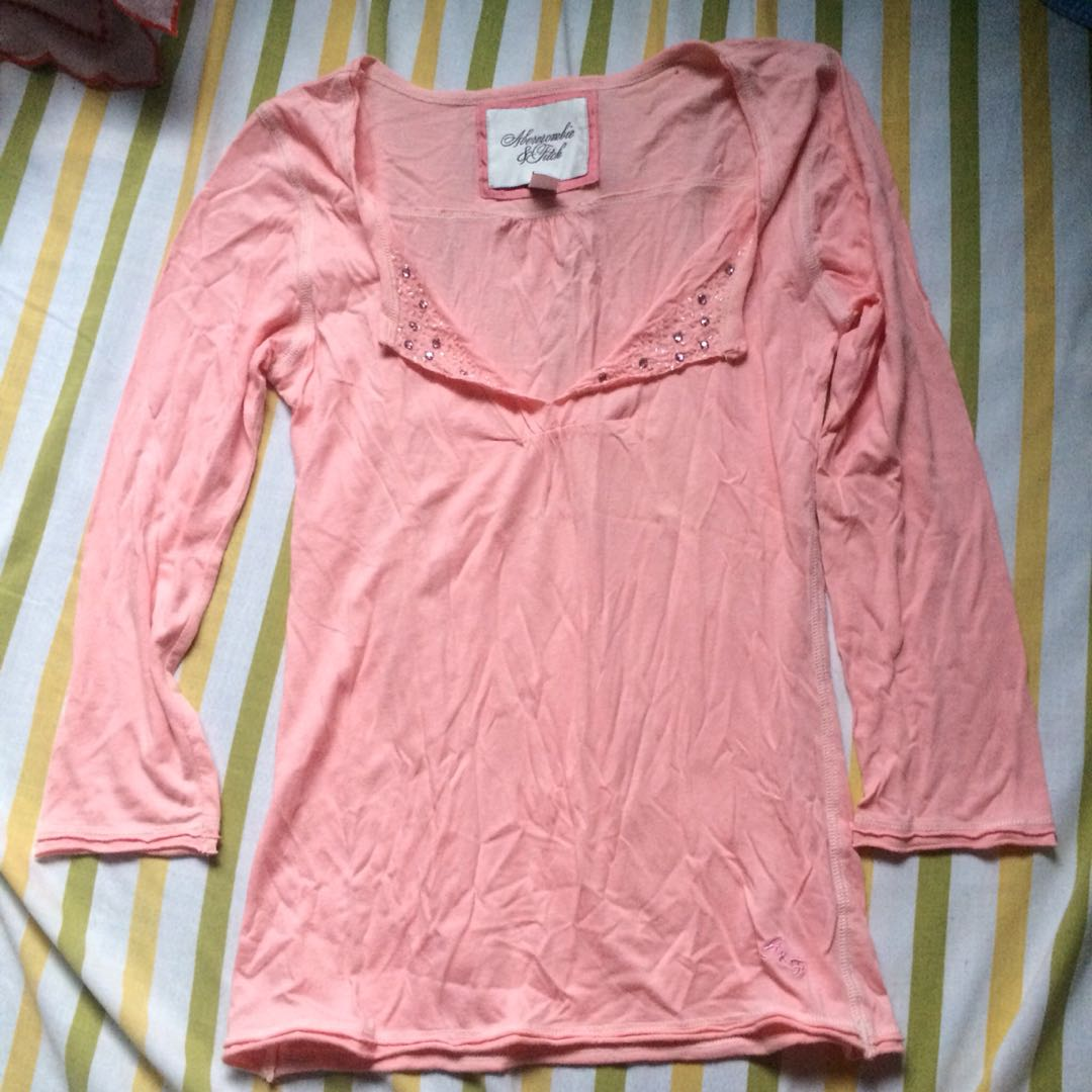 15e60bc19 Aeropostale long sleeves pink top sweater, Women's Fashion, Clothes ...