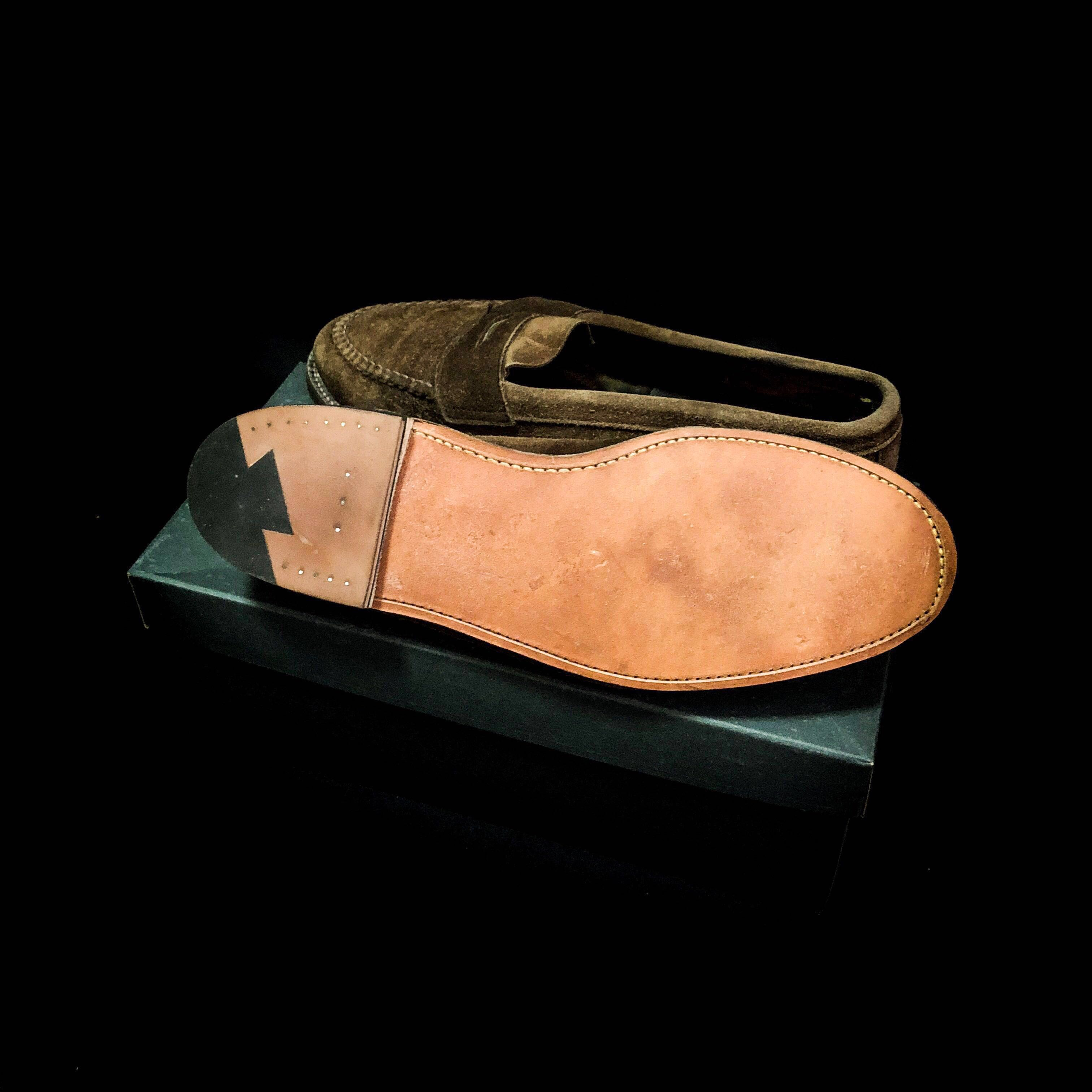 06568375ebd ALDEN SNUFF SUEDE PENNY LOAFERS