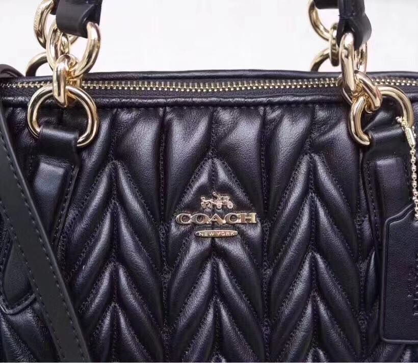 91c94f10f639 Authentic Coach Quilted Leather Ally Satchel Crossbody Bag Purse F31460